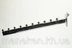 Флейта (кронштейн) с креплением на эконом-панель 10L40(C-71) Хром