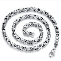 "Цепочка мужская ""Steel Rage"", цвет silver 55 см/5 мм, фото 1"
