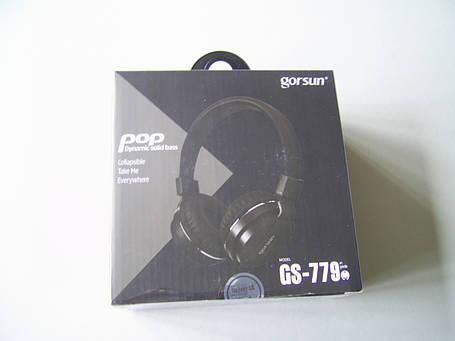 Наушники GORSUN GS-779 (с микрофоном, мониторы) Black, фото 2