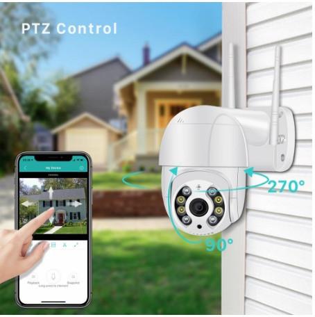 Потолочная IP-камера Wireless Smart WiFi Camera 360 WI-FI Белая (34295yop)