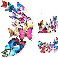 Бабочки на стене, интерьерные наклейки на стены яркие краски