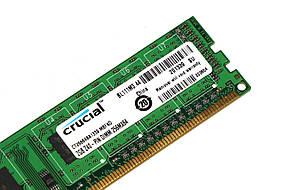 Оперативная память для ПК DDR3 Crucial 2Gb 1Rx8 PC3-12800 1600MHz Intel и AMD, б/у, фото 2