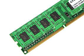 Оперативная память для ПК DDR3 Crucial 2Gb 1Rx8 PC3-12800 1600MHz Intel и AMD, б/у, фото 3
