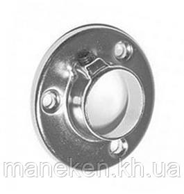 Фланец D 25mm Хром для перпендикулярного крепления к плоскости