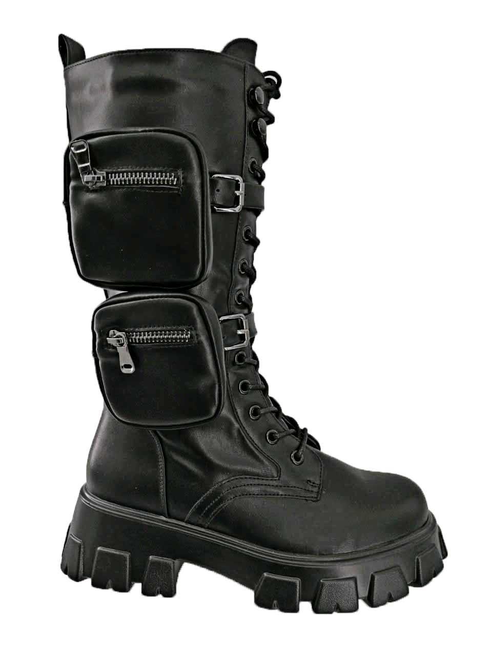 Женские высокие ботинки в стиле Prada