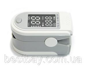 Пульсоксиметр SP02 серый с черно белым дисплеем, Oxiometer прибор для измерения кислорода в крови, фото 2