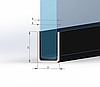 ODF-04-13-02-L1200 Профиль из нержавейки под стекло 8 мм (полированный) с отверстиями, фото 3