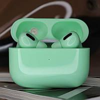 Наушники беспроводные в дизайне AirPods Pro, Macaron pro Air 3 Pro 1:1. Зеленые.