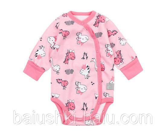 Дитячий боді для новонародженої дівчинки в пологовий будинок, р. 0-3 міс