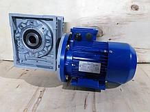 Червячный мотор-редуктор NMRV130 1:20 с эл.двигателем 3 кВт 750 об/мин, фото 3