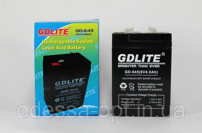 Аккумулятор BATTERY GD 645 6V 4A (Реальная ёмкость -40%), фото 2