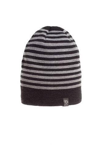Красивая качественная теплая мужская  шапка в серую полоску., фото 2