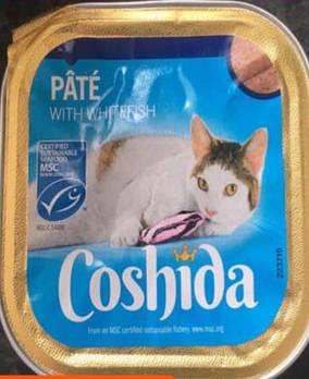 Консервы для кошек Coshida паштет с белой рыбой, 100 гр