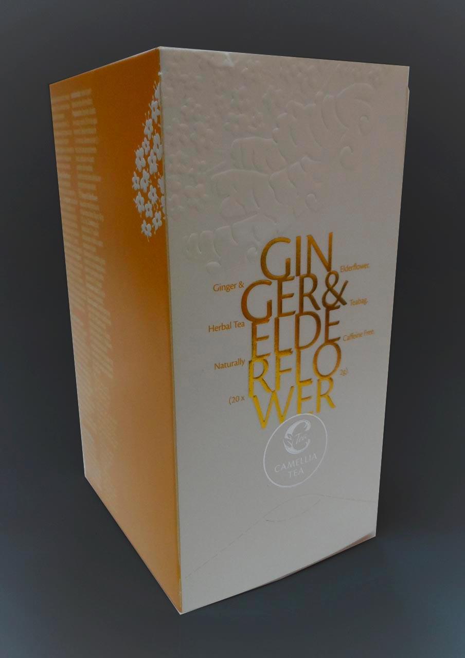 Чай Camellia Tea Ginger & Elderflower (Имбир и бузина) 50 гр.