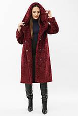 Жіноча шубка тепла зимова з капюшоном розміри: 42,44, фото 3