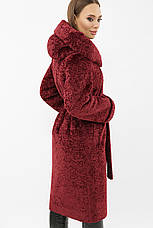 Жіноча шубка тепла зимова з капюшоном розміри: 42,44, фото 2