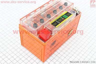 Аккумулятор 7Аh UTX7A-BS гелевый (L150*W87*H94mm), 2020, с ИНДИКАТОРОМ