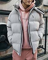 Зимняя мужская куртка Пушка Огонь Homie Silk серый