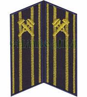 Петлиця вишита Укрзалізниця старший начальницький склад сині