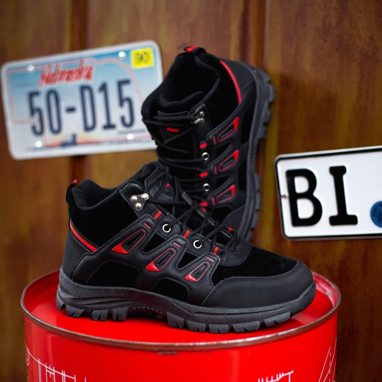 """Зимние ботинки с мехом Gammi BO """"Черные"""""""