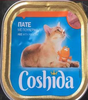 Консервы для кошек Coshida паштет с домашней птицей, 100 гр
