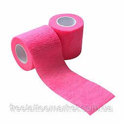 Бандажный бинт для тату держателя розовый