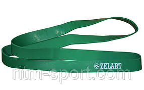 Гума для підтягувань (стрічка силова 6 -31 кг, зелений)
