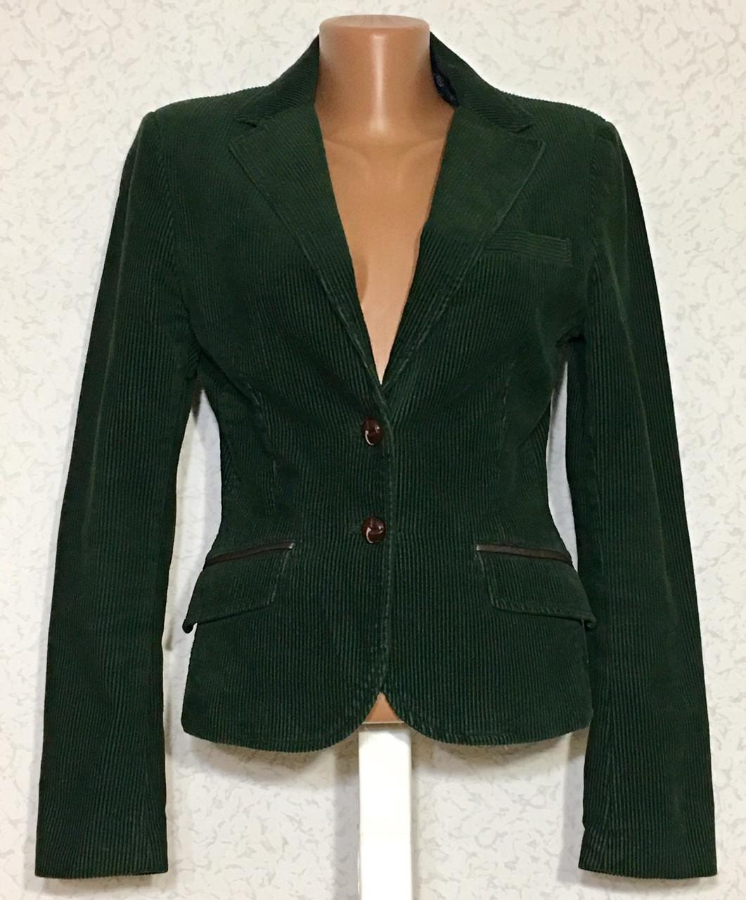 Шикарный женский вельветовый пиджак жакет 36 размер