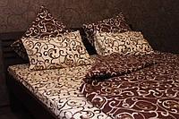 Постельное белье вилюта 5400 коричневое полуторное