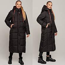 Стильне зимове жіноче пальто Сандра, р-ри 44-54