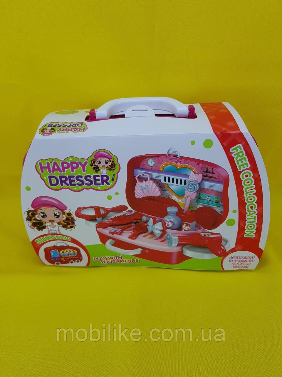Увлекающий набор для макияжа детский с выдвижным чемоданчиком