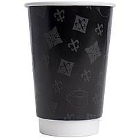 Стакан бумажный 2-сл.Louis Vuitton 250мл, d 7,5 см, 15шт (кр.75)