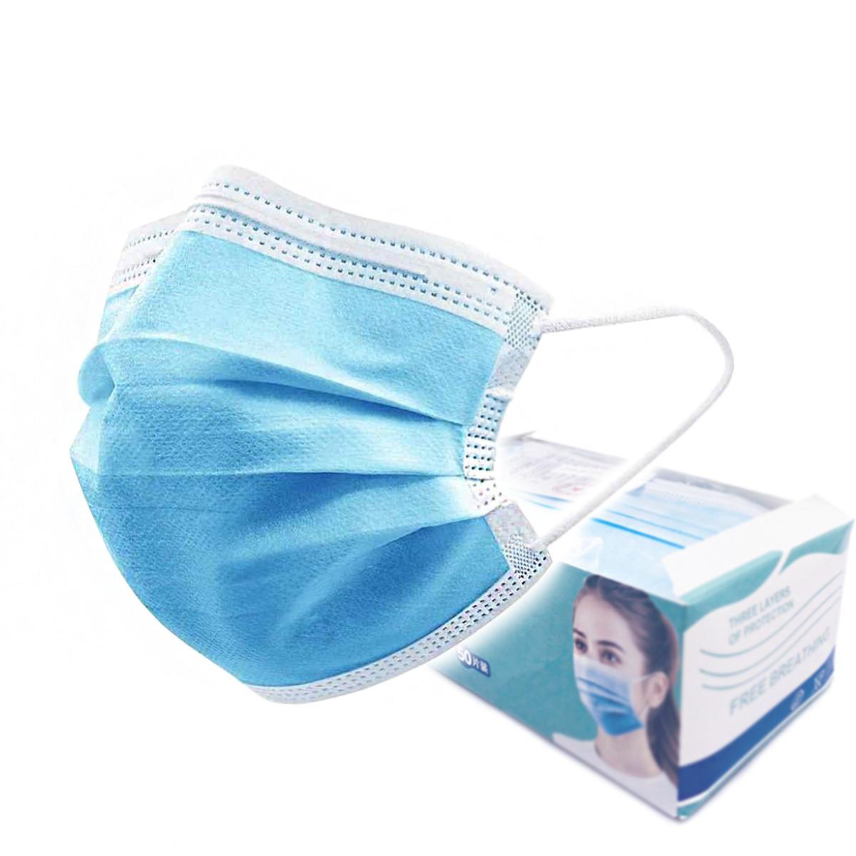 Медичні маски паяні для захисту органів дихання, тришарові