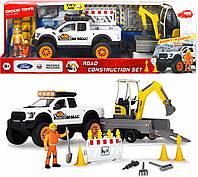 Игровой набор для мальчиков с машинками Dickie Toys Строительство дороги звук, свет 3838004