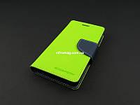 Чехол книжка для Lenovo A536 A358 A358t зеленый