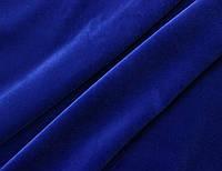 Бархат итальянский хлопковый без эластана натуральный синий однотонный MI 60, фото 1