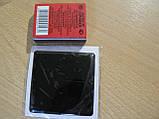 Наклейка s силиконовая Полоса 60х60х1,2мм черная квадрат без надписи на авто, фото 2