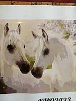 """Картина по номерам """"Пара коней"""" 40*50см KH02433"""