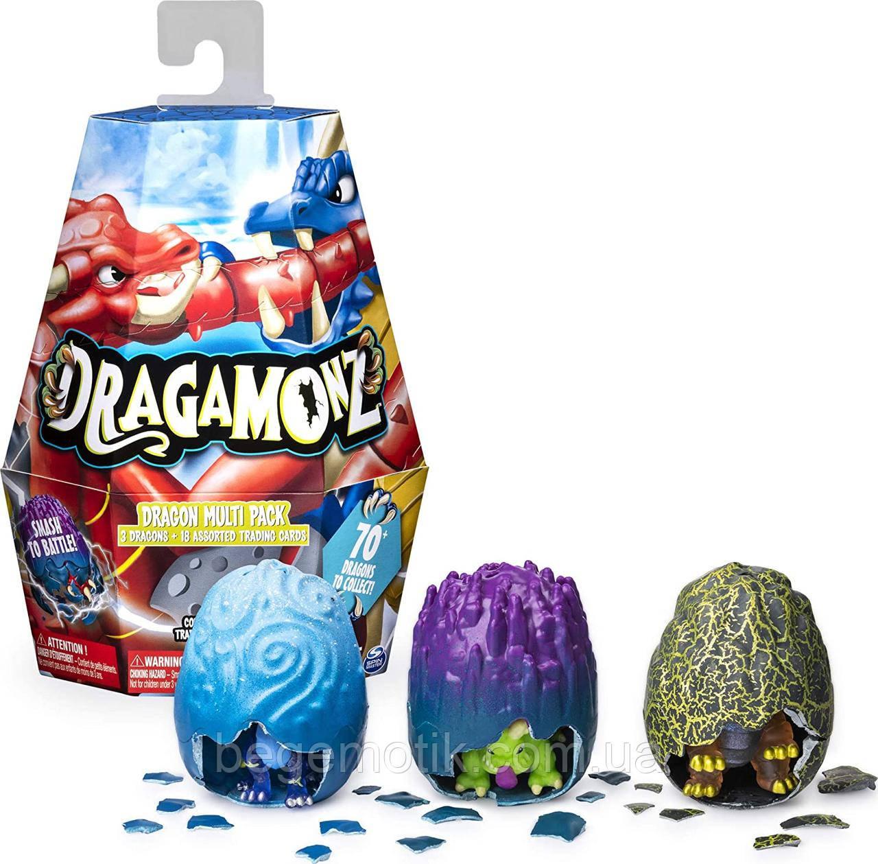 Dragamonz Фигурки сюрприз драконы в яйцах Dragon Multi 3-Pack Figure 6045621