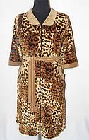 Леопардовый женски халат 036