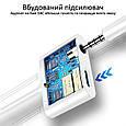 Адаптер Promate AuxCharge-C USB-C/AUX 3.5мм+18Вт PD USB-C-in White, фото 4