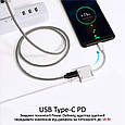 Адаптер Promate AuxCharge-C USB-C/AUX 3.5мм+18Вт PD USB-C-in White, фото 5