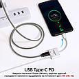 Адаптер Promate UniSplit-C USB-C / USB-C Audio Jack + 15Вт PD USB-C White, фото 5