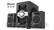 Колонки 2.1 REAL-EL M-590 black (60Вт, Bluetooth, USB, SD, FM, ДУ) УЦІНКА