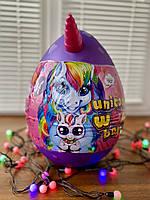 Детский набор для творчества яйцо единорога Danko Toys Unicorn WOW Box