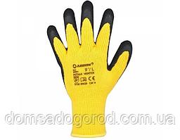 Захисні рукавички стрейч нітрилові жовті, червоні