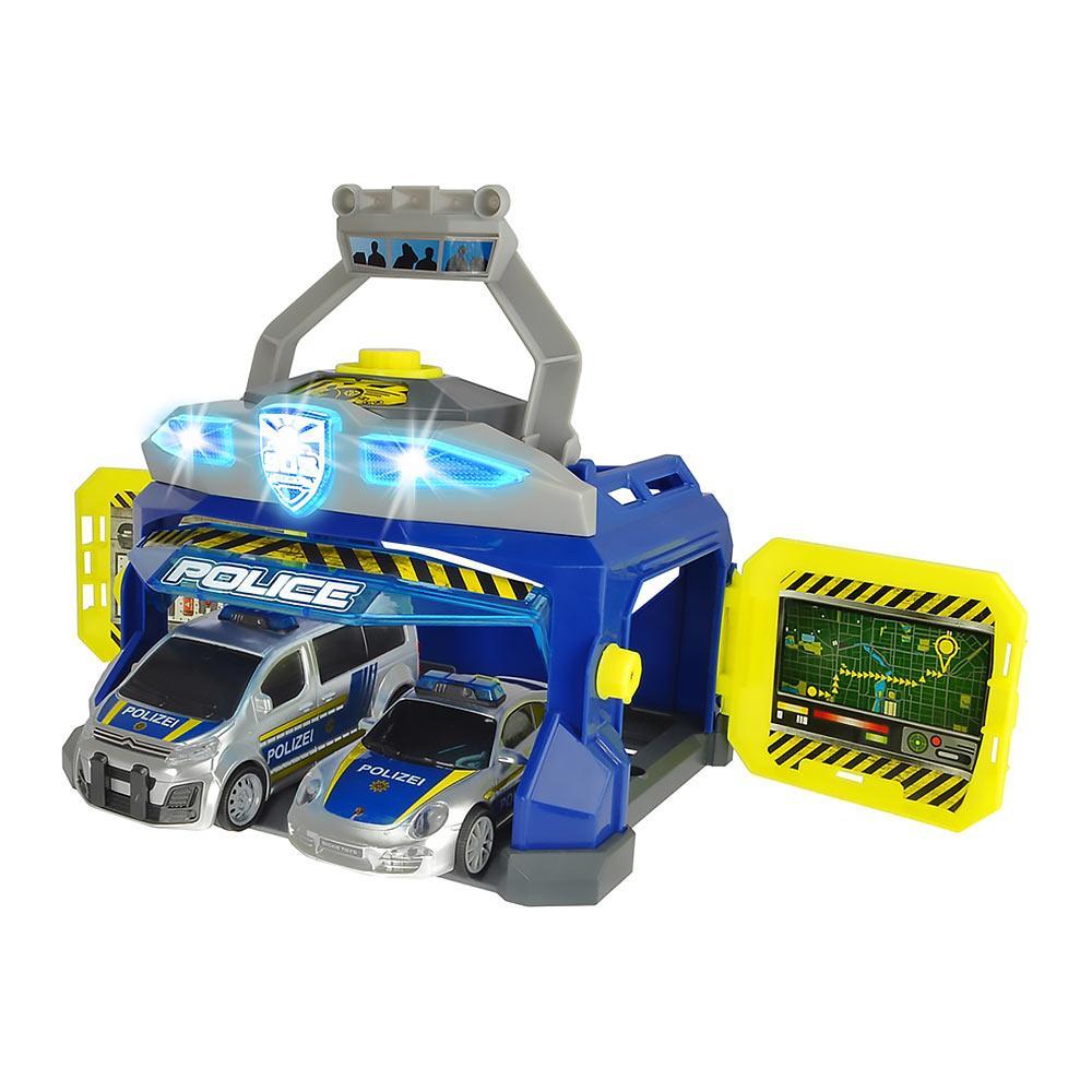 Игровой набор для мальчиков с машинками Dickie Toys Командный пункт полиции свет, звук 3715010