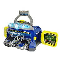 Игровой набор для мальчиков с машинками Dickie Toys Командный пункт полиции свет, звук 3715010, фото 1