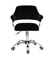 Кресло офисное JEFF CH- OFFICE бархат ,черный в-1011