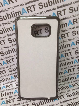 Чехол для 2D сублимации пластиковый на Samsung Galaxy note 5 черный, фото 2
